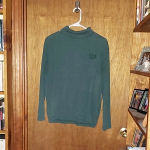 Women's Blair Green Turtleneck Shirt  Size Large